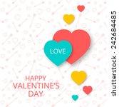 postcard happy valentine's day... | Shutterstock .eps vector #242684485