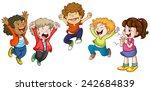 illustration of children jumping | Shutterstock .eps vector #242684839