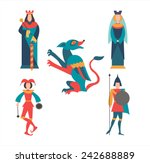 king  queen  soldier  jester... | Shutterstock .eps vector #242688889