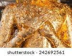 ancient buddha holding hand... | Shutterstock . vector #242692561