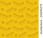 pattern of hotdogs. seamless | Shutterstock .eps vector #242696275