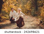 mother and her daughter in... | Shutterstock . vector #242698621