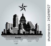 vector. austin city  capital of ...   Shutterstock .eps vector #242698927