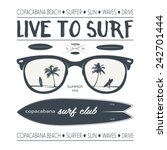 vector surf poster and design... | Shutterstock .eps vector #242701444