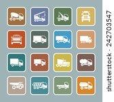 trailer icons | Shutterstock .eps vector #242703547