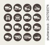 truck icons | Shutterstock .eps vector #242703574