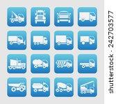 trailer icons | Shutterstock .eps vector #242703577