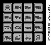 truck icons for site | Shutterstock .eps vector #242703589