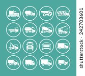 truck icon set for web | Shutterstock .eps vector #242703601