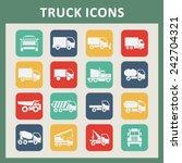 truck icon set | Shutterstock .eps vector #242704321
