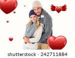attractive couple in winter... | Shutterstock . vector #242711884