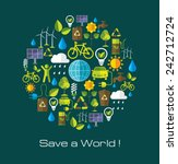 environment and ecology banner... | Shutterstock .eps vector #242712724