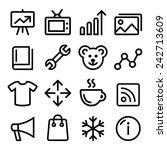 web menu navigation line icons...