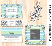 wedding invitation cards with... | Shutterstock .eps vector #242729611