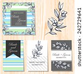 wedding invitation cards with... | Shutterstock .eps vector #242729641