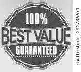 best value guaranteed retro... | Shutterstock .eps vector #242736691