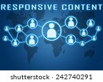 responsive content concept on...