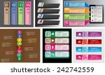 colorful modern text box... | Shutterstock .eps vector #242742559