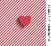 heart on striped background | Shutterstock .eps vector #242748535
