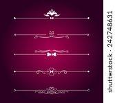 set calligraphic valentine's...   Shutterstock .eps vector #242748631