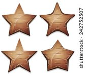 wood stars icons for ui game ...