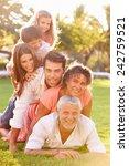 multi generation family lying... | Shutterstock . vector #242759521
