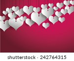 white heart babbles on pink... | Shutterstock .eps vector #242764315