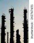dusk sky over natural gas plant   Shutterstock . vector #242767651