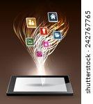 modern conceptual digital... | Shutterstock .eps vector #242767765