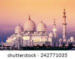 abu dhabi sheikh zayed mosque... | Shutterstock . vector #242771035