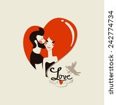 happy valentine's day | Shutterstock .eps vector #242774734
