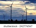 field of wind turbine  thailand | Shutterstock . vector #242776567