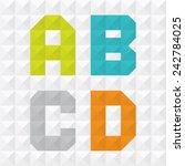 geometric letters | Shutterstock .eps vector #242784025