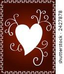 heart and artistic design   Shutterstock . vector #2427878