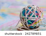 A Ball Of Elastic Bands  Of...