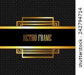 vector retro frame  | Shutterstock .eps vector #242794714