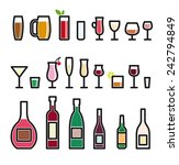glassware vector colored icons... | Shutterstock .eps vector #242794849