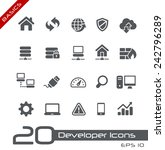 developer icons     basics | Shutterstock .eps vector #242796289