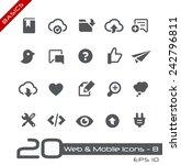 web   mobile icons   8    basics | Shutterstock .eps vector #242796811