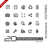 web   mobile icons   3    basics | Shutterstock .eps vector #242796841