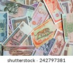 variety of the asian banknotes | Shutterstock . vector #242797381