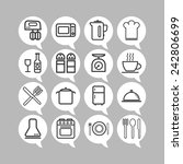 set of simple icons for kitchen ... | Shutterstock .eps vector #242806699