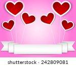 pink valentine card | Shutterstock .eps vector #242809081