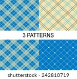 4 striped vector patterns ... | Shutterstock .eps vector #242810719