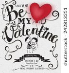 valentine's day typography art... | Shutterstock .eps vector #242813251