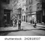 pell street in new york city's... | Shutterstock . vector #242818537