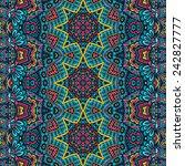 vector ethnic abstract seamless ... | Shutterstock .eps vector #242827777