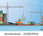 vector flat global... | Shutterstock .eps vector #242829541