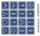 set of icons with arrows | Shutterstock .eps vector #242835949