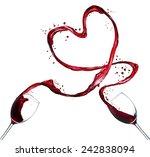 Glasses Red Wine Splashing Out - Fine Art prints